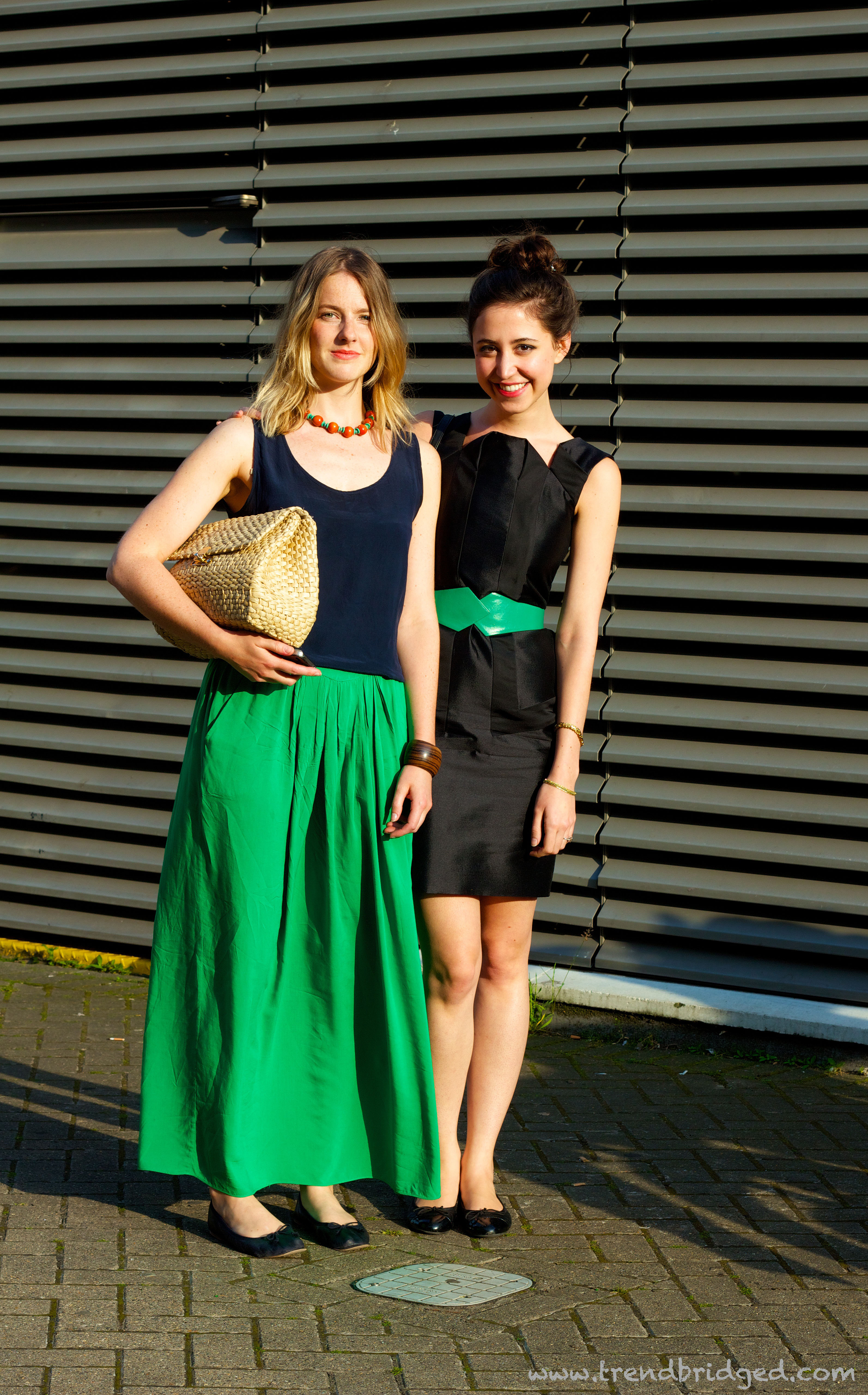 Green Skirt, Maxi Skirt, Tate Modern, Green an Black