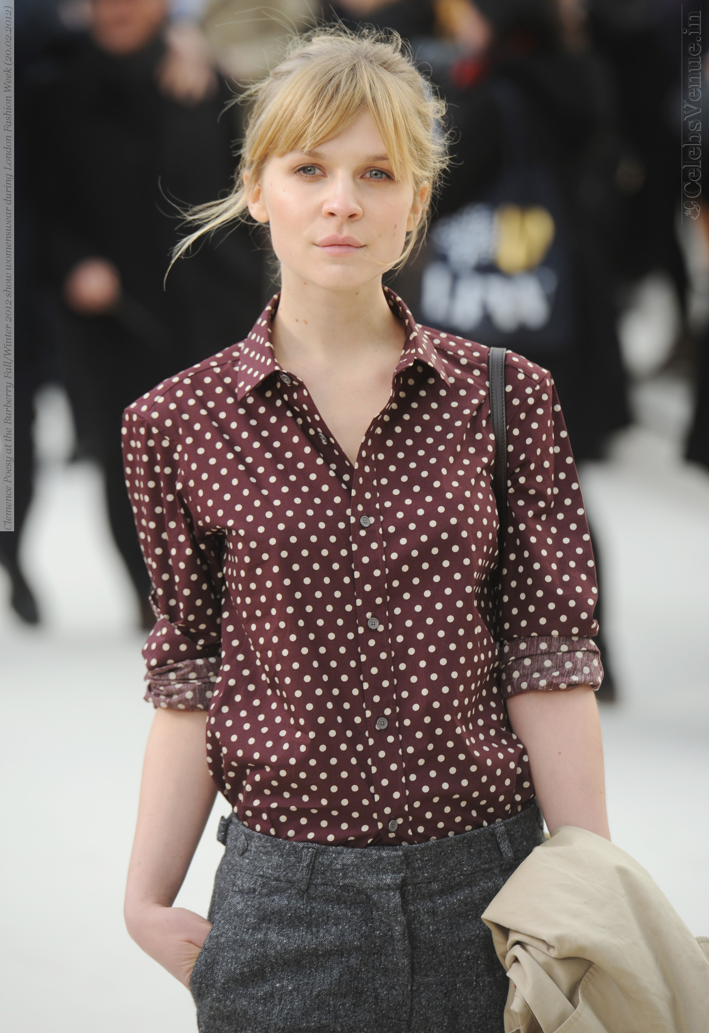 Clemence Poesy at the Burberry Fall/Winter 2012 show womenswear during London Fashion Week (20.02.2012)